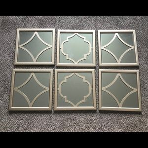 Other - Mirror Framed Gallery Wall Art Gold Set of 6! 10""
